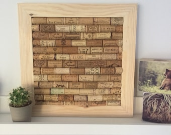 Corkboard made from Used Wine Corks | Handmade frames in UK | Ideal Present