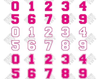 Sport numbers svg - Sport numbers vector - Sport numbers digital clipart for Print, Design or more, files download svg, png, dxf
