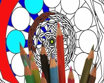 Mandala 002,  coloring page