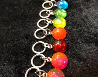 Rainbow Dots Stitch Markers (8pc)