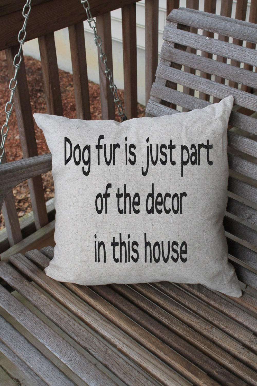 Pillow Cushion Cover Funny Dog Quote Pet Pillow Dog Quote