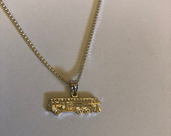 Fire Truck Necklace