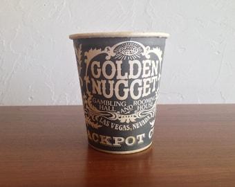 Las Vegas Paper Coin Cup Golden Nugget Casino