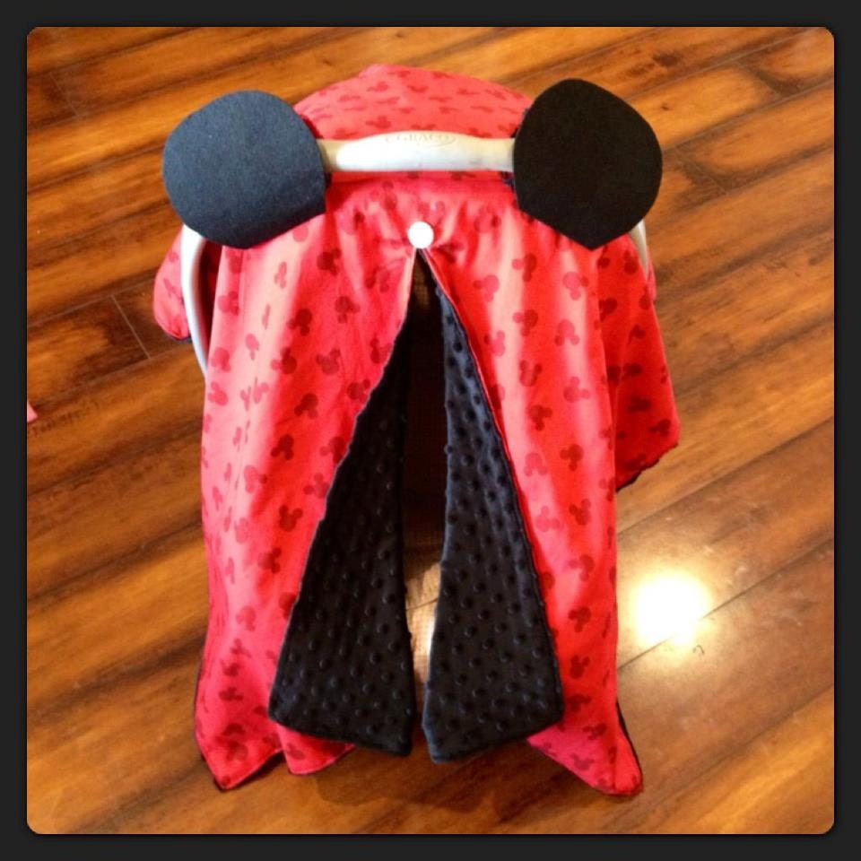 ?zoom & Mickey Mouse Car seat canopy red cotton Mickey fabric with