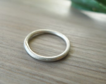 Sterling Silver Stacking Ring, Simple Ring, Brushed Finish Ring, Matte Ring, Simple Stacking Ring, Organic Ring, Thin Band