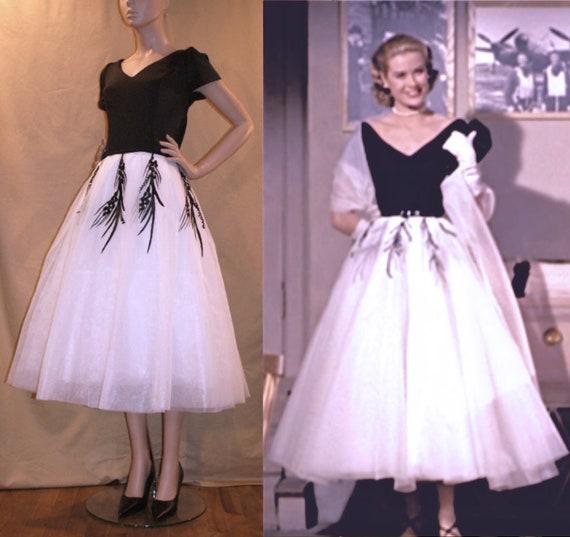1950er Jahre Gnade Kelly Kleid aus Heckscheibe... Wunderschöne