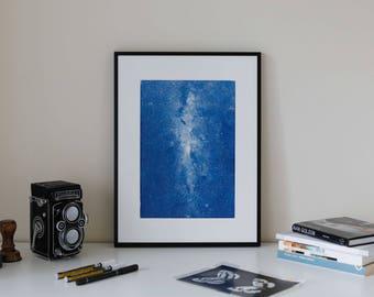 Galaxy Cyanotype Print
