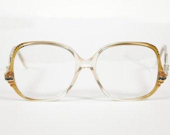 Renato Balestra NOS 1970er Jahre Vintage Gold Kunststoff Entwerfer Brille Rahmen