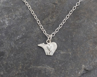 Bear heart Necklace