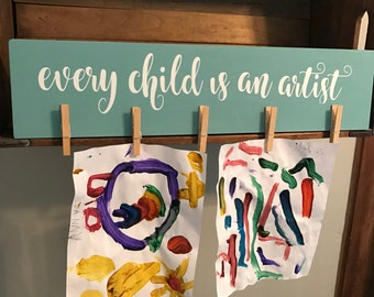 Kids Artwork Display | Every Child is an Artist | Look What I Made | Child Artwork | Art Display | Annie Sloan Chalk Paint