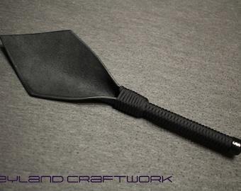 Mature BDSM Leather Diamond Paddle