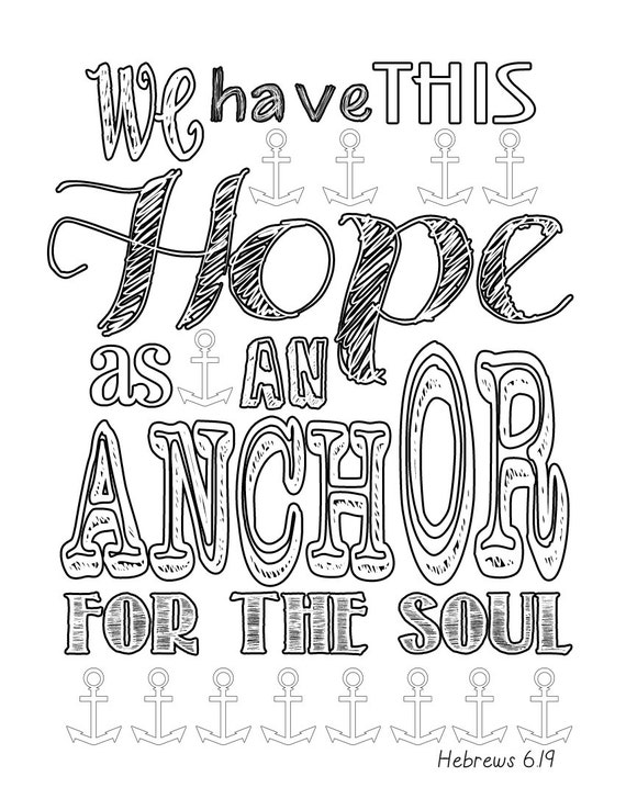 hebrews 619 anchor coloring page - Anchor Coloring Page