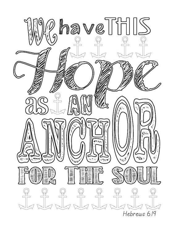 hebrews 619 anchor coloring page - Anchor Coloring Page
