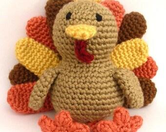 Timothy The Turkey - PDF Crochet Pattern - Instant Download