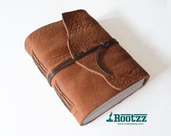 Leather journal cognac