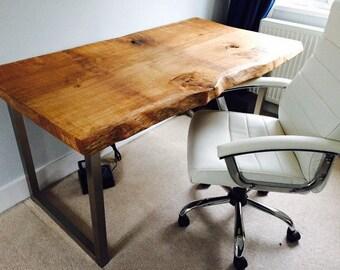 Waney Edge Oak Slab Table Tops With Danish Oil Finish