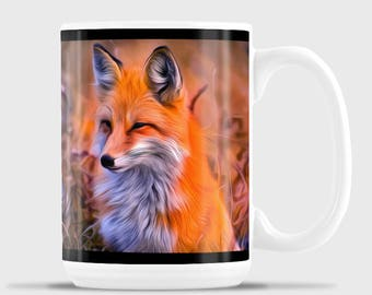 Red Fox Head Mug