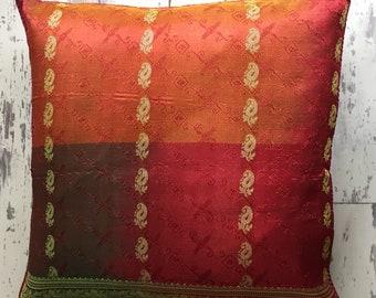Terracotta Faux Silk Cushion Cover