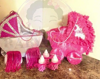 Baby Carriage Centerpieces