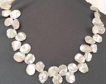 Keshi Pearl Choker - White Keshi Pearls - Baroque Pearl Choker - Pearl Bridal Jewelry - Mothers Day