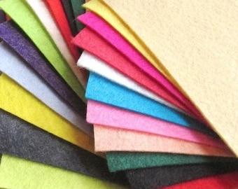21 -  Summer Colors Collection - Merino Wool blend Felt Sheets
