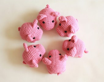 Amigurumi PIG Crochet PATTERN - Amigurumi Animal PDF Tutorial -Digital Download- Printable- In English