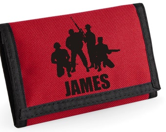 Personalised Soldiers Wallet - *Choice of colours*