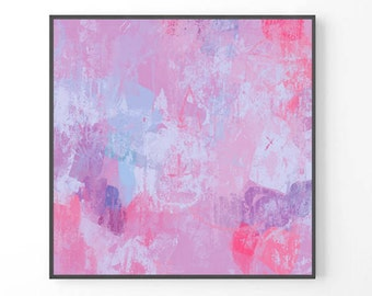 Large Abstract Painting, modern large wall art, PRINT from original painting, pastel print, pastel abstract art, pink and purple print