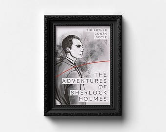 The Adventures of Sherlock Holmes Book Cover Illustration | Art Print