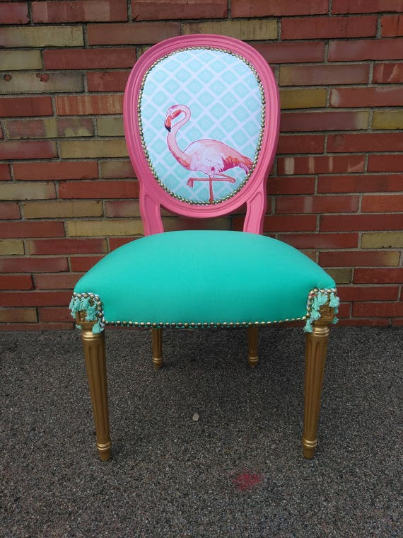 Pink and Mint Flamingo Chair
