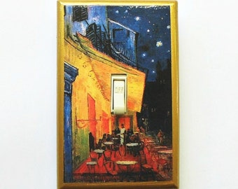 Selection Famous art Switchplates w/ MATCHING SCREWS- Van Gogh Salvador Dali Van Gogh Cafe Terrace at night Matisse nude Starry Night scream