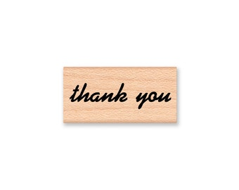 THANK YOU - Wood Mounted Rubber Stamp (mcrs 08-25)