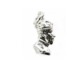 Sterling Silver Prince Albert Bust Charm For Bracelets
