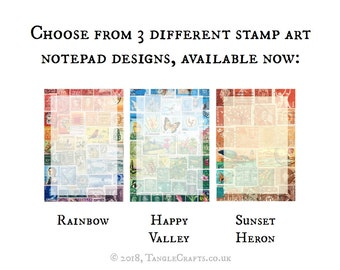 Postage Stamp Writing Paper Pad • Choice of 6 designs