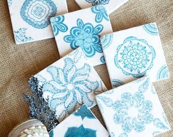 Blue and White- Blue and White Tile, Blue and White Coaster, Blue and White Backsplash, Blue Tile, Backsplash Tile, Blue Decor, Classic