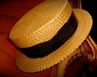 EXCeLLeNT 1920s STETSON Boaters Hat! 7 1/4 Philadelphia Roarin' 20s!