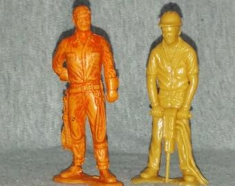 REDUCED Vintage Workmen,, Keystone Playset, Two, Plastic, 1960