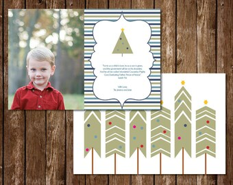 Christmas Tree Natural Photo Christmas Card