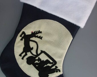 "Golfer's Christmas Stocking--""Ho Ho Hole in One"""