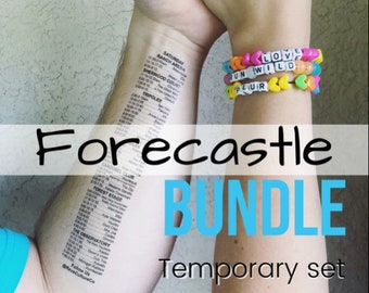 FORECASTLE Schedule Temporary Set Tattoos - Weekend Bundle - BUNDLE and Save!