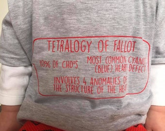 Tetralogy of Fallot CHD Awareness T-shirt