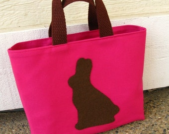 Chocolate Bunny, Easter Tote, Reversible