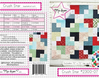 Crush Star PDF Quilt Pattern