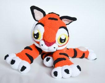 Crochet PATTERN - Baby Tiger  pattern by Krawka