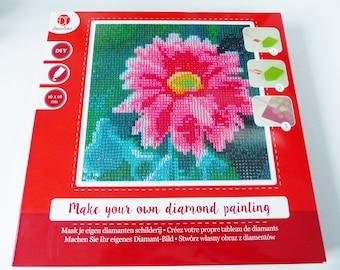 Diamond painting flower painting 16 x 16 centimeters rhinestone diamond painting Kit