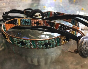 Bohemian Style Beaded Bracelet /Hatband/Headband/Choker