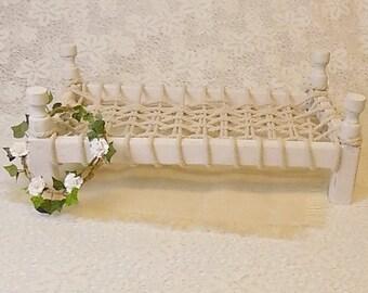 Beautiful rustic bed prop