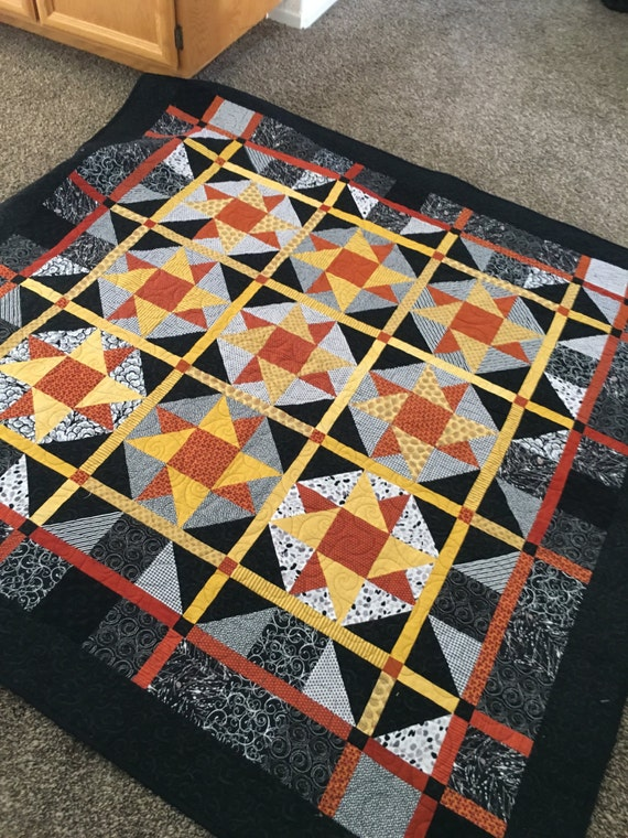 Hot Stars Over Texas - Lap Quilt