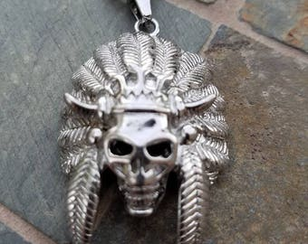 Indian Chief Skeleton Necklace