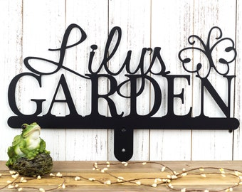 Garden Name Sign   Gift For Her   Name Sign   Metal Sign   Outdoor Sign   Personalized Gift   Metal Garden Sign   Butterfly
